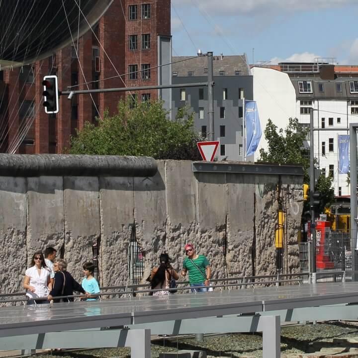 Berliner Mauer an der Ausstellung Topografie des Terrors