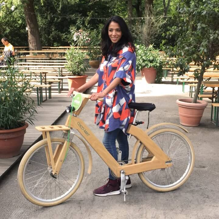 woody bike woman