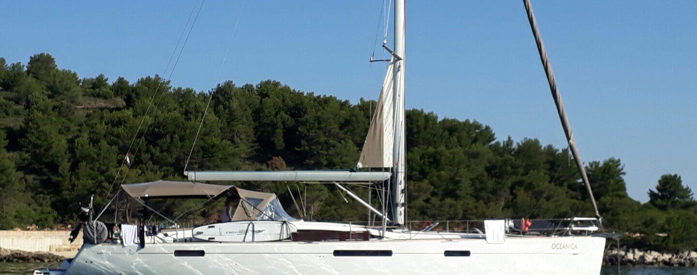 segelboot auf kroatien törn